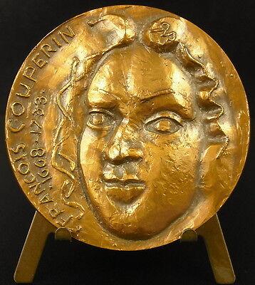 Bescheiden Médaille François Couperin Le Grand Compositeur Organiste Music Composer Medal