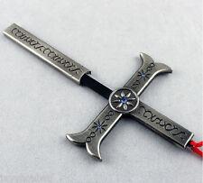 5.5IN ONE Piece Dracule Mihawk Hawkeye Cross Sword Weapon Cosplay Gift