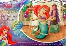 "The Little Mermaid Ariel Airwalker 53"" Birthday Foil Balloon Party Supply Decor"