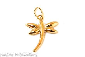 9ct Gold Dragonfly bracelet Charm Gift Boxed Birthday Gift