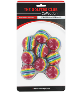 The-Golfers-Club-Striped-Practice-Golf-Balls-Rainbow-x-9