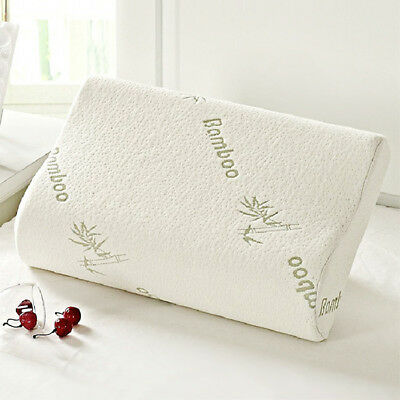 Bamboo Memory Foam Pillow Orthopaedic Head Neck Back Support + Free Cover