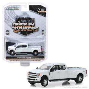 GreenLight-46010-C-2018-Ford-F-350-Lariat-Oxford-White-Diecast-Truck-1-64