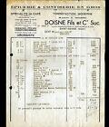 """SAINT-AMAND-MONTROND (18) EPICERIE & CONFISERIE en gros """"DOISNE Fils"""" 1954"""