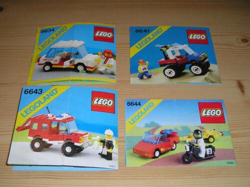 Lego System Legoland Anleitung 6634 6641 6643 6644 gelocht Gebrauchsspuren 10
