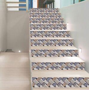 3d Retro Bricks 11 Tile Marble Stair Risers Decoration Mural Vinyl