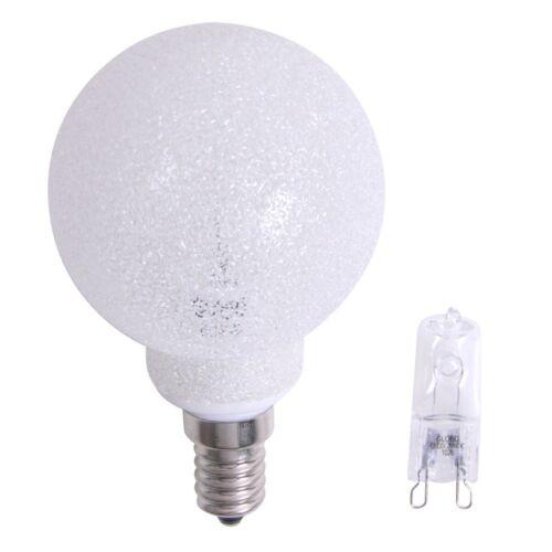 warmweiß Halogen Leuchtmittel Eisdekor Top Leuchtmitteladapter G9 auf E14 inkl