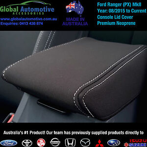 FORD-PX2-RANGER-MkII-NEOPRENE-CONSOLE-LID-CAR-SEAT-COVERS-XL-XLS-XLT-Wildtrak