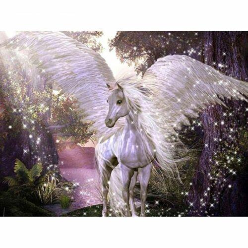 Pintura De Diamante Patrón De Bordado De Diseño De Caballo Blanco Pegasus Casa Decoraciones