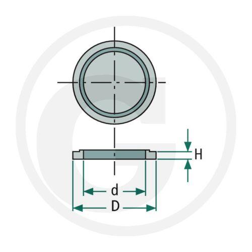U-Seal Joint D/'étanchéité /_ m10 /_ Joint /_ Adapter /_ hydraulique /_ pneumatique /_ rapidement entremetteurs