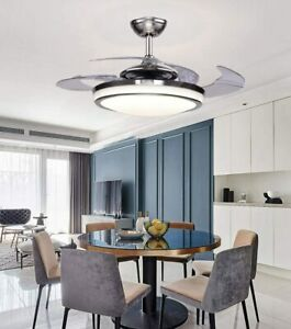 48-034-Retractable-Blades-Dimmable-LED-Ceiling-Fan-Light-Remote-Control-Lamp
