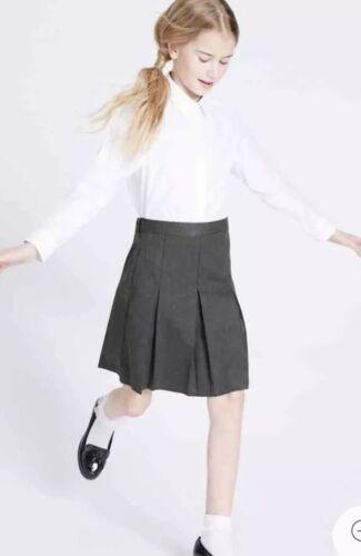 Marks /& Spencer Ultimate School Skirt Bnwt Grey Permanent Pleats Bnwt 10-11