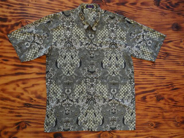 Batik Short Sleeve Shirt Cotton Singapore Collections
