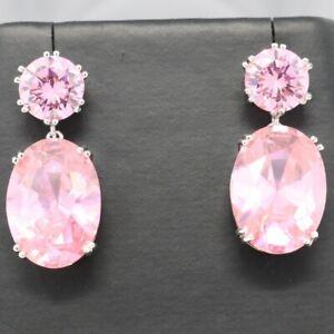 Gorgeous pink drop earrings
