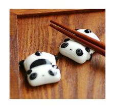 Ceramic Panda Fork Chopstick Spoon Ware Rest Porcelain Holder Stand