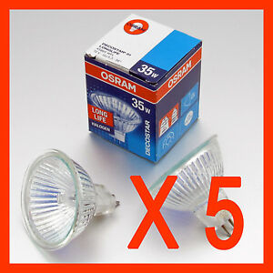 x-5-OSRAM-Halogen-Downlights-MR16-35-W-12V-GU-5-3-Down-Light-Bulbs-Downlight
