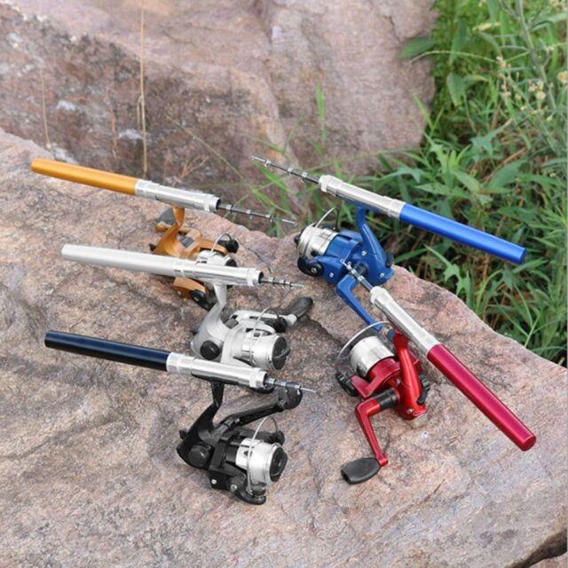 Lightweight Portable Pen Rod Fishing Set Telescopic Fishing Rod Pole + Reel 2c