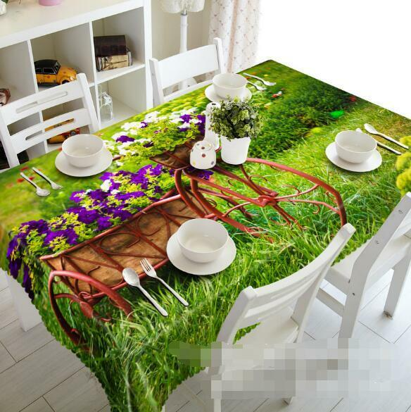 3D Flowers 486 Tablecloth Table Cover Cloth Birthday Party Event AJ WALLPAPER AU