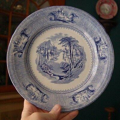 "1860 English Staffordshire ""siam"" Transferware Plate Pleasant To The Palate"