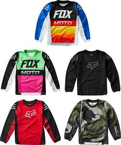 MX Motocross Dirt Bike Off-Road ATV MTB Boys Gear Fox Racing Youth 180 Jersey