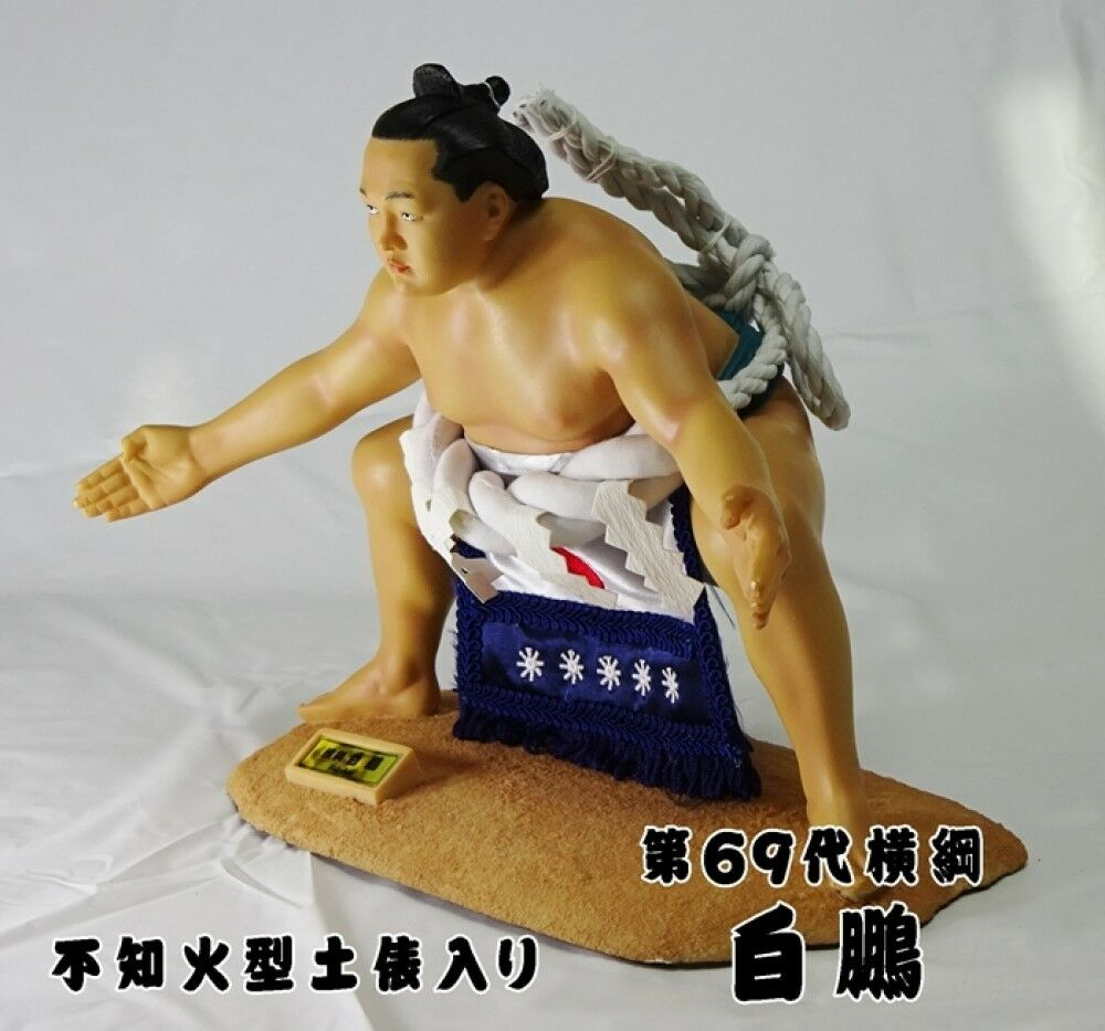 NEW Sumo Wrestler HAKUHO Shiranui type Ring entering ceremony polyester figure