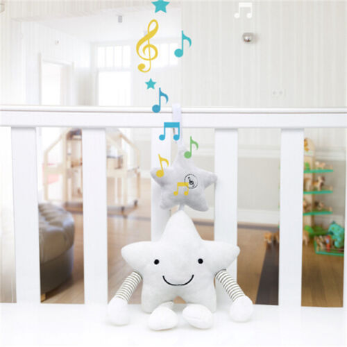 Stars Newborn Infant Plush Animal Rattle Car Seat Adorable Hanging Toy one