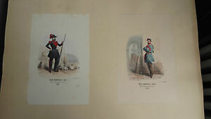 2-Engravings-Colours-Of-Troops-French-Garde-Republican