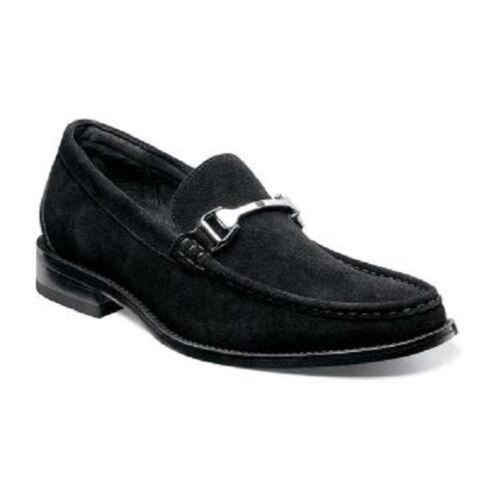 Stacy adams Men shoes Flynn Black Suede silhouette Comfort slip on 24914-008