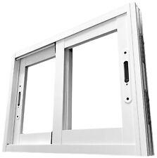 Ventana de Aluminio blanco a medida igual o inferior a 40cm ancho x 40cm alto
