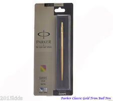 Parker Classic Gold GT Ball Pen BP Sealed in Box New-Blue Ink-Fine Nib - US Sell