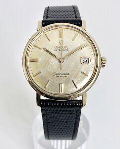 LINO-QUADRANTE-OMEGA-SEAMASTER-De-Ville-automatico-calendario-cal-562-datazione-al-1963