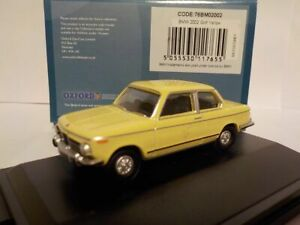 Model-Car-Bmw-2002-Yellow-1-76-New