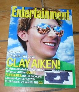 ENTERTAINMENT WEEKLY mag CLAY AIKEN David Spade Nikki Reed Mary J Blige The OC - <span itemprop=availableAtOrFrom>Skipton, North Yorkshire, United Kingdom</span> - ENTERTAINMENT WEEKLY mag CLAY AIKEN David Spade Nikki Reed Mary J Blige The OC - Skipton, North Yorkshire, United Kingdom