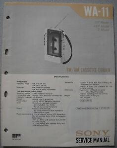 SONY-WA-11-Service-Manual