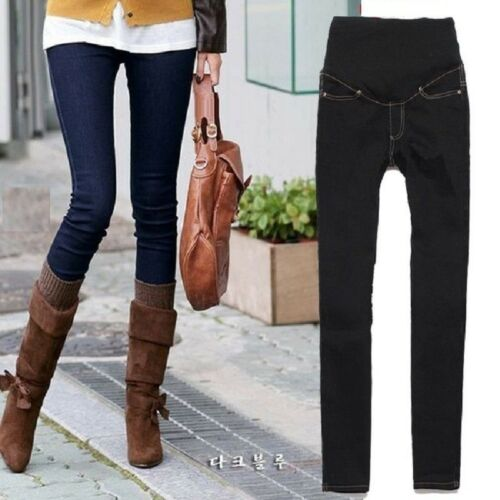 rechte Zwangerschaps broek zwart Skinny jeans been Denim zwangerschap hoog blauw te fqqFBO