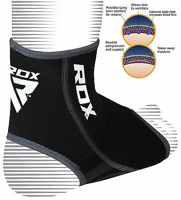 RDX Neoprene Ankle Support Foot Brace Guard Sports Shin Protector Feet MMA 2XL