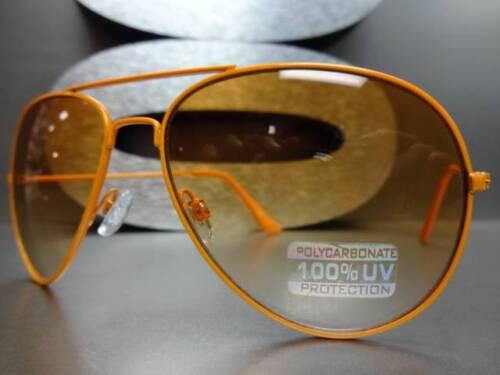 Men/'s or Women CLASSIC VINTAGE RETRO Cool SUNGLASSES Orange Frame /& Orange Lens