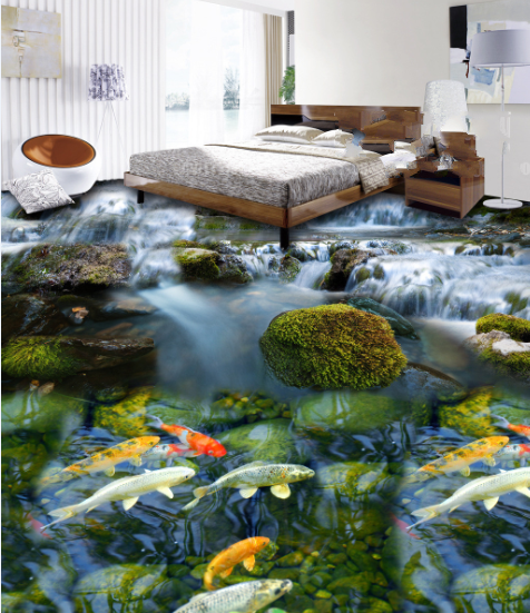 3D Fisch Muster 533 Fototapeten Wandbild Fototapete Tapete Familie DE Lemon