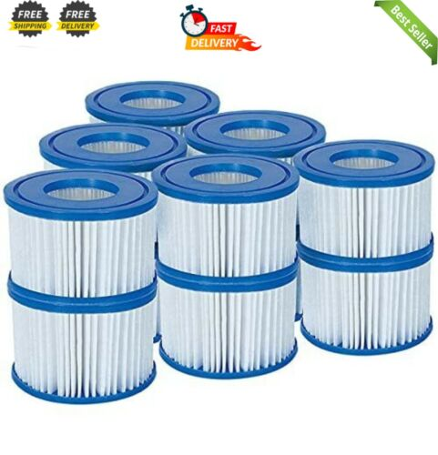 6 x Twin Pack 12 Filtres 58323 Lay-z-Spa Bestway Filtre Cartouche Taille VI