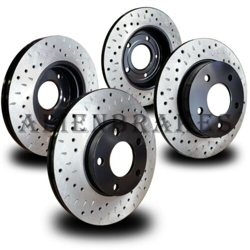 DOD007S Charger Challenger Magnum 300C SRT-8 Rotors Cross Drill /& Dimple Slots