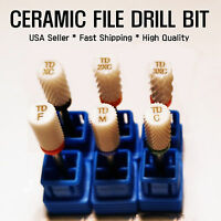 6 Size Electric Cylinder Ceramic File Drill Bit Nail Art Manicure Pedicure Tool