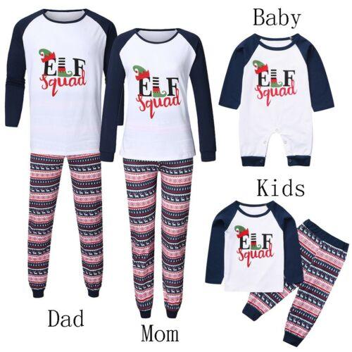 Baby Kids Mom Dad Family Matching Christmas Xmas Pajamas Sleepwear Nightwear Set