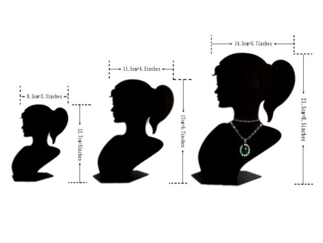 1/2/3/5/10PCS Girl Head Jewelry Pendant Display Stand(3 different sizes)JD10c138