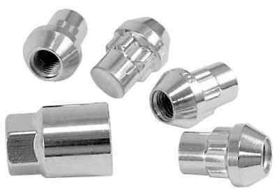 "Lug Wheel Lock Nuts 1//2/"" Chrome Bulge Acorn Locking Nut Set 1//2-20 Fits Ford"