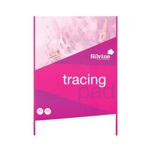 Silvine Tracing Paper Pad 40 Sheets A4-Ideal for Art//Crafts//School//Home BrandNEW