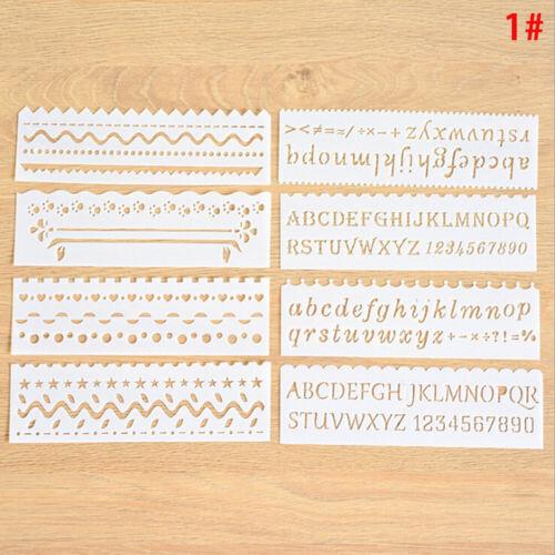 set Bullet Journal Stencil Establecer planificador de plástico DIYGK S* 8Pcs