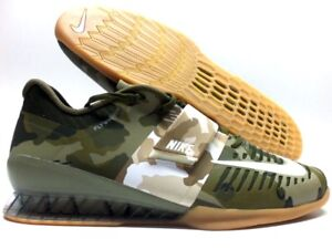 designer fashion e144d f3e07 Image is loading NIKE-ROMALEOS-3-WEIGHTLIFTING-SHOE-OLIVE-CANVAS-SAIL-