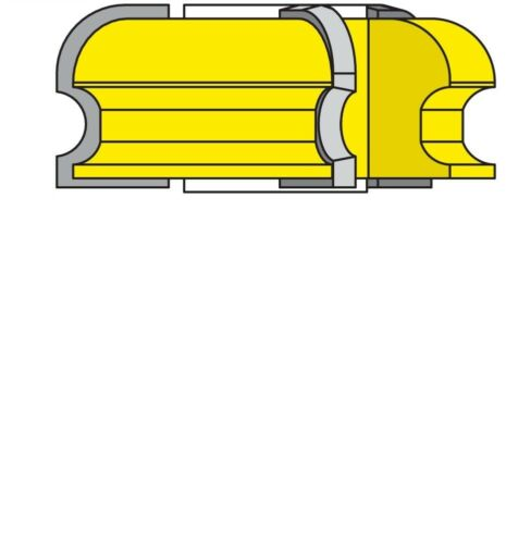 "Cove /& Bead Shaper Cutter 5//16/""Radius /& 3//16/""Radius 3//4/"" Bore"