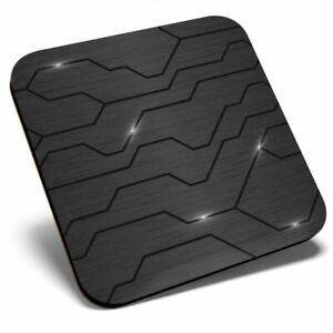 Square Single Coaster bw - Futuristic Technology Gaming Style  #42909