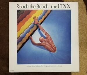 Vintage-1983-The-FIXX-034-Reach-the-Beach-034-LP-MCA-Records-5419-NM